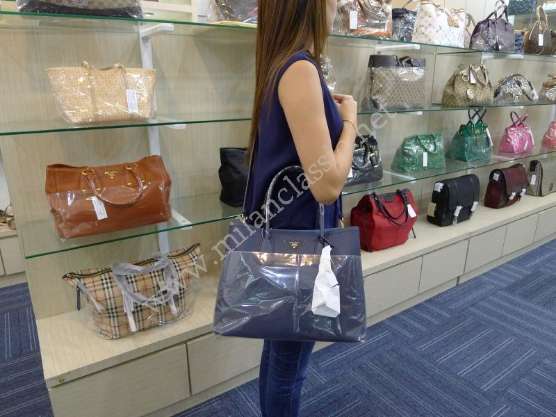 7dce02b672fd SOLD(已售出)NEW - Prada Saffiano Cuir Leather Tote In Baltic Blue (Large)