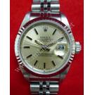 Rolex 69174 Lady Champgne Dial With Index 18K+SS Auto 26mm (With Box)