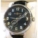 Bell & Ross Heritage WW1-97 Reserve De Marche Black Dial Auto Steel/Leather 45mm