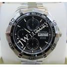 Tag Heuer Aquaracer Day Date Chrono Black Dial Auto S/S 43mm (With Box)