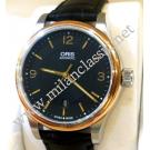 Oris Classic Date Black Dial Auto Rose Gold Plated / Steel 42mm