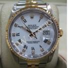 Rolex 16233 White Dial Roman Letter With Diam...