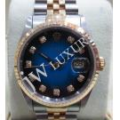 Rolex 16233 Two Tone Blue Diamond Index Dial ...