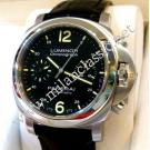 "RESERVED WITH DEPOSIT-Panerai Luminor 40 Chrono Auto Steel/Leather 40mm ""PAM310"" (With Box + Card)"