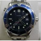 Omega Seamaster Diver 300m Mid Size Blue Dial Quartz S/S 36mm (With Box)