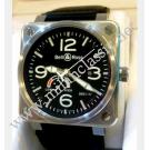 Bell & Ross BR01-97 Power Reserve Indicator Auto Steel/Letaher 46mm (With Box)