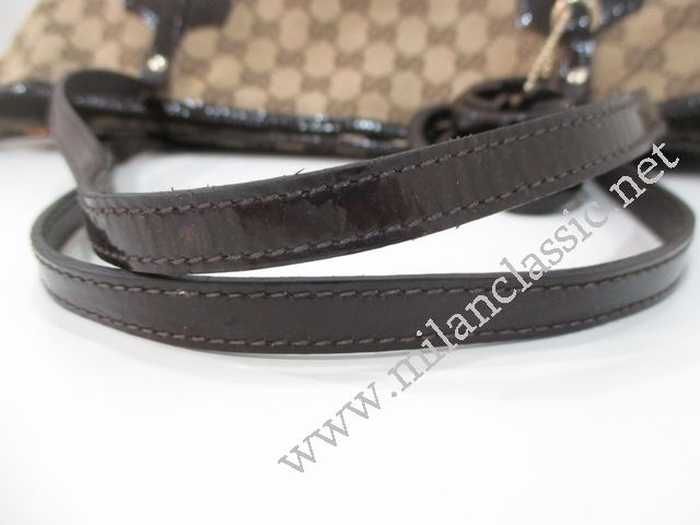 88a141757d2a Gucci Jolie Canvas Brown Leather Trim Tote-25093 NEW YEAR SALE ...