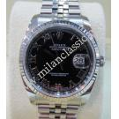 Rolex 116234 Black Roman Letter Dial Auto 18K/SS 36mm (With Box + Verified Paper)