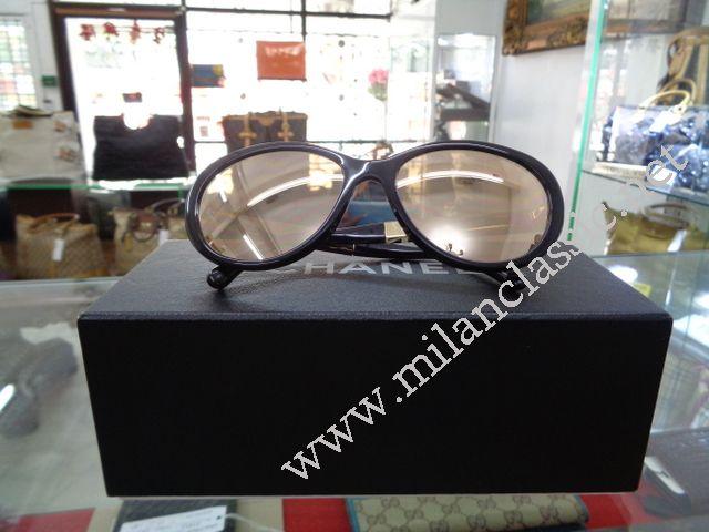 24b09fd8259da Chanel Sunglasses Black Silver CC Logo Cat Eye Case Perfection 18K Gold  Lenses