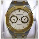 Audemars Piguet-Royal Oak Day-Date Ivory Dial 18K/SS Auto 36mm