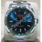 Rolex 116400GV Milgauss Blue Dial Green Sapphire Glass Auto S/S 40mm (With Card + Box)