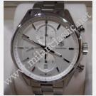 Tag Heuer Carrera Chrono Calibre 1887 Silver Guilloche Dial S/Steel Auto 41mm (With Card + Box)