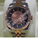 Rolex 116231 Gents Pink Champagne/Black Dial Auto 18K Rose gold/Steel 36mm (With Box + Card)