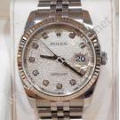 Rolex 116234 Silver Computerize With Diamond ...