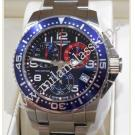 Longines-Hydroconquest Chrono Quartz Blue Dial S/S 41mm (With Box + Card)