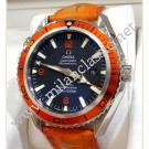Omega Seamaster Planet Ocean CO-Axial Orange Bezel Auto Steel/Leather 45.5mm (With Box + Card)