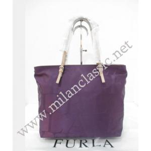 NEW - Furla Nylon With Zip Shopping Tote (Purple Color)