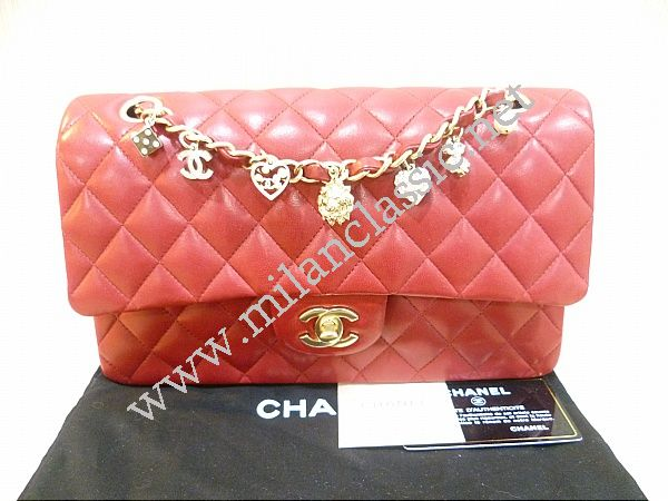 46ba182fd919 LIMITED EDITION - Chanel Valentine Red Lambskin Double Flap Medium GHW