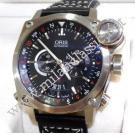 Oris BC4 Worldtimer GMT Black Textured Dial Auto Steel/Leather 43mm (With Box)
