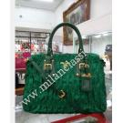 NEW - Prada Bamboo Green Nylon Zipped Gaufre ...