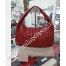 Bottega Veneta Uluru Red Tornabuoni Leather Small Veneta Hobo Bag