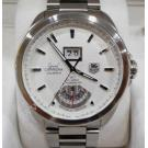 Tag Heuer Grand Carrera Silver Dial Calibre 8RS Grande Date and GMT S/S Auto 42.5mm (With Box)