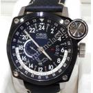 LIMITED - Oris BC4 Blue Eagles 24 HR Black PVD Steel / Leather Auto 45mm