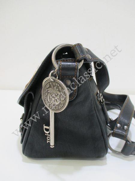51c8bf4ffabd SOLD(已售出)Christian Dior Gaucho In Black Leather Small Sling Bag ...