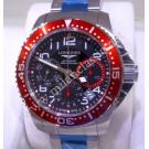SOLD-NEW-Longines Hydroconquest Gents Chrono Black Dial Auto Stainless Steel 41mm (With Box + Card)