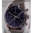 "RESERVED-Breitling Transocean Chrono Black Dial Auto S/S 43mm ""REF: AB0152""(Box)"