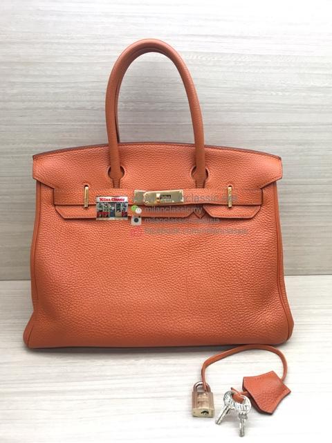d79713aa7495 ... 50% off hermes birkin 30 orange togo leather gold hardware e 6532d 94488