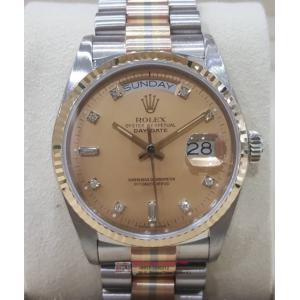 Rolex 18039B Tridor Gold Dial with Diamonds Index 18K Gold Auto 36mm (with Box)