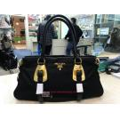 NEW - PRADA Black Nylon+Leather GHW Shoulder/Crossbody Bag