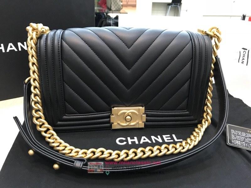 74657b9458c2 SOLD - NEW - CHANEL Boy Chanel Handbag Lambskin Gold-Tone Metal