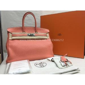 SOLD - HERMES Birkin 35 Togo Pink Color Bag