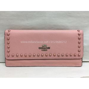 COACH Pink Leather Long Wallet