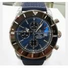 NEW - BREITLING Superocean Heritage 2 Chrono Ceramic Bezel Blue Dial S/S Auto 44mm(With Card + Box)