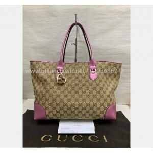 SOLD - GUCCI Heart Bit Charm Canvas Bag