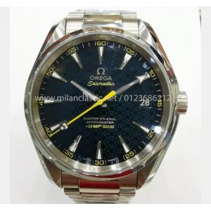SOLD - LIMITED - OMEGA Seamaster Aqua Terra James Bond Blue Dial S/S Auto 41.5mm(With Card + Box)