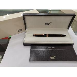 NEW - MONT Blanc Meisterstuck Classique Red Gold Plated Clip Rollerball Pen (Box + Card)
