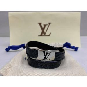 SOLD - LV Damier Graphite Leather Bracelet