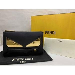 NEW - FENDI Black Calf Leather Pochette Clutch