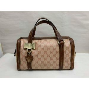 GUCCI Pink Waterproof Canvas Short Handle Bag