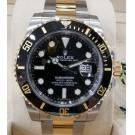 NEW - ROLEX 116613LN Submariner Black Dial Ceramic Bezel Auto 18K/SS 40mm