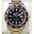 ROLEX 116713LN GMT II Black Ceramic Bezel Auto 18K/SS 40mm