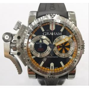 GRAHAM Chronofighter Oversize Diver Black Dail S/S Auto 47mm(With card + Box)