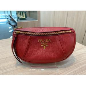 PRADA Small Daino Red Leather Belt Bag