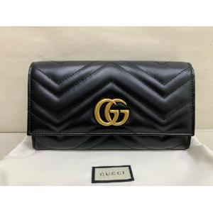 SOLD - NEW - GUCCI GG Marmont Black Continental Wallet