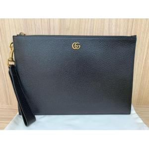 NEW - GUCCI GG Marmont Black Leather Pouch