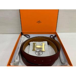 NEW - HERMES H Belt Buckle & Reversible Leather Strap 32mm
